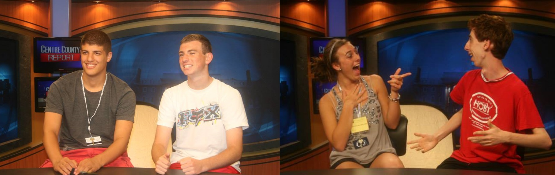 Broadcast journalism on the Centre County Report set