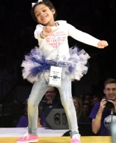 Leah Still, the 5-year-old daughter of Houston Texans' Devon Still, shows off her dance moves on stage at the THON Pep Rally Saturday night. #commthon16 Instagram: @gabsies23 Gabrielle Mannino