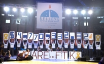 The total is revealed at the end of THON 2016. This year's event raised $9,770,332.32