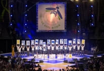 THON Executive Committee members reveal a total of $10,045,478.44 raised for THON 2017.