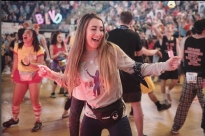jaynali_photoTHON dancer, Alexis DePasqua, dances at the THON Saturday, Feb. 17, 2018. DePasqua dances for her aunt who lost her battle to breast cancer and her entire family danced in the THON. #commthon2018