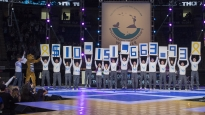 The final fund raising total is revealed at Thon 2018. Since its inception more than 40 years ago, the event has raised more than $100 million to benefit the families of children with cancer through direct financial support, pediatric cancer research funding and financial support of Penn State's Hershey Medical Center. This year THON raised $10,151,663.93, about $106,000 more than last year. Photo by Maddie Almer