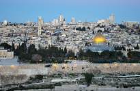 Dawn looking over Jerusalem from the Mt. of Olives.