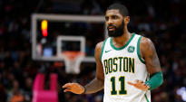 MIAMI, FL - JANUARY 10:  Kyrie Irving #11 of the Boston Celtics reacts against the Miami Heat at American Airlines Arena on January 10, 2019 in Miami, Florida. NOTE TO USER: User expressly acknowledges and agrees that, by downloading and or using this photograph, User is consenting to the terms and conditions of the Getty Images License Agreement.  (Photo by Michael Reaves/Getty Images)