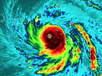 VIIRS Satellite image of Hurricane Maria nearing peak intensity on Sept. 19, 2017.
