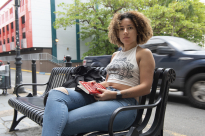 Joyce Mendoza is a student at the University of Puerto Rico, Rio Piedras campus. After Hurricane Maria hit, Mendoza left the island to attend New York University in their Hurricane Maria Assistance Program. She plans to leave for the mainland once she graduates. Photo by Lauren Lee