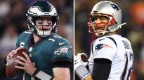 Eagles QB Carson Wentz and Patriots QB Tom Brady