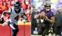 Texans QB Deshaun Watson, Ravens QB Lamar Jackson
