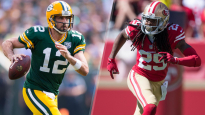 Packers QB Aaron Rodgers, 49ers DB Richard Sherman