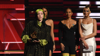 Mandatory Credit: Photo by Rob Latour/Shutterstock (10532344ke) Billie Eilish -  Best New Artist - presented by Alicia Keys and Dua Lipa 62nd Annual Grammy Awards, Show, Los Angeles, USA - 26 Jan 2020