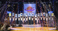 The THON executive committee reveals the THON total money raised at the end of THON at the Bryce Jordan Center on Sunday, Feb. 23, 2020. The total is $11,696,943.38.