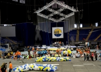 THON committee members, volunteers and Bryce Jordan Center employees worked all day Friday to prepare for the weekend.