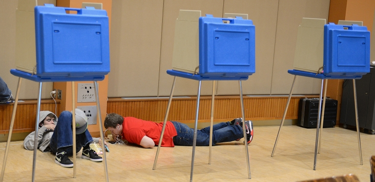Flowers poll workers